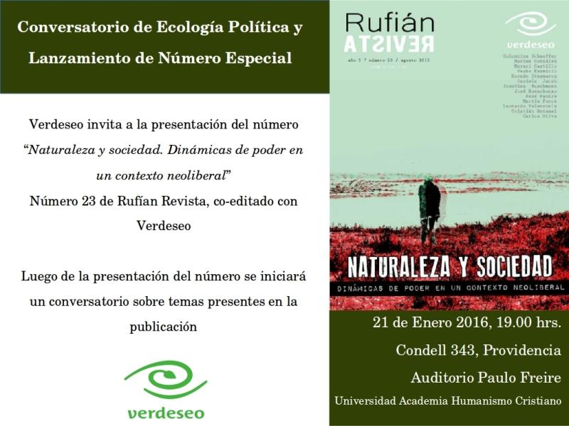 Lanzamiento Revista Rufian-Verdeseo